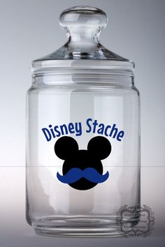 Disney Stache Vinyl Decal. MouseTalesTravel.com #diydisney #disneystache #disneydeal