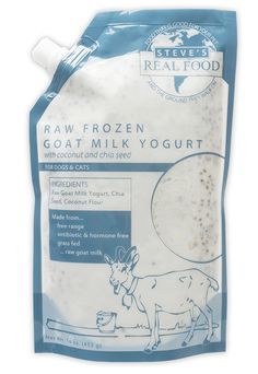This frozen raw goat milk, chia, coconut flour mixture is fantastic!  My boys love it as a topper!