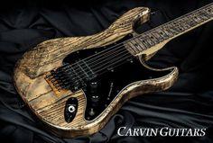 Kiesel Carvin Guitars with Antique Ash Treatment