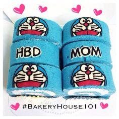 Doraemon Paint Roll Cake^_^ รับทำ Roll Cake ตาม Order ค่ะ ที่ ร้านอาหาร Bakeryhouse 101 Sukhumvit101/1