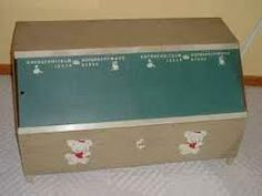 toy box with chalkboard