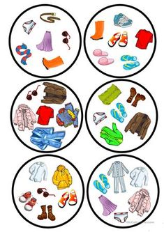 Clothes dobble game - English ESL Worksheets for distance learning and physical classrooms English Games, English Activities, Teaching French, Teaching English, Teaching Spanish, English Primary School, Teaching Nouns, Preschool Worksheets, Printable Worksheets