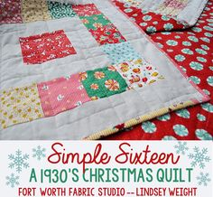 Simple Sixteen Free Quilt Pattern