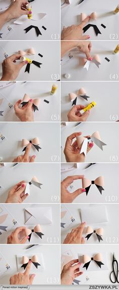 DIY paper bow tutorial by kris Diy Paper, Paper Art, Paper Crafts, Bow Tutorial, Diy Room Decor, Home Decor, Diy Gifts, Cheer Gifts, Paper Flowers