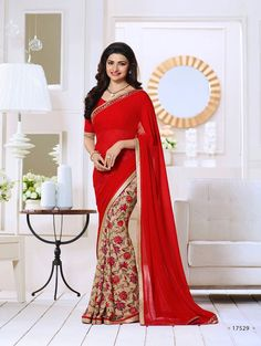 Red Exclusive Designer Fancy Saree