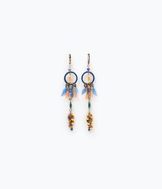 Image 1 of FEATHER AND TASSEL EARRINGS from Zara