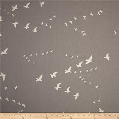 Birch Organic Bear Camp Bear Flight Shroom from @fabricdotcom  Designed by Jay-Cyn for Birch, this GOTS certified organic cotton is perfect for quilting, apparel, and home decor accents. Colors include egg white and grey.