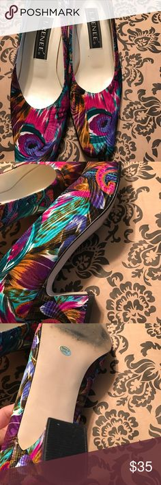 Nice Pair of J. Renee colorful low heel Pumps These are in Mint Condition J. Renee Shoes Heels