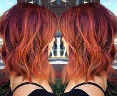 15 Different Red-Colored Bob hairstyle ideas for women If you are in search of a new, bright and eye-catching hair color this Bob hairstyles with red hair colors is your guide to a beautiful hair color transformation! 1. Red Bob hairstyle copper-red, is a great hair color, it can be assumed...