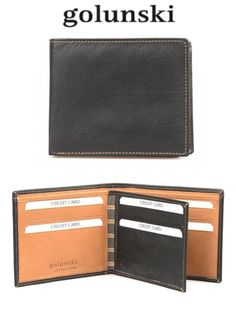 Style ZE1: Mens Premier Quality Wallet In Super Smooth Black & Tan Leather By Golunski  #us #pretty #jj #tech #outfitoftheday #instagood #lovehim #picoftheday #iphone #instafashion