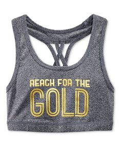 Ideology Girls' Reach for the Gold Sports Bra, Only at Macy's