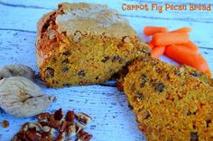 Carrot Fig Pecan Bread {Recipe} - Mommy Snippets