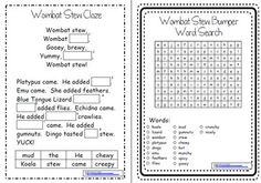 Wombat Stew ~ A week of reading activities Reading Activities, Literacy Activities, School Classroom, Classroom Ideas, Teaching Kids, Teaching Resources, Wombat Stew, Procedural Writing, Reading Response