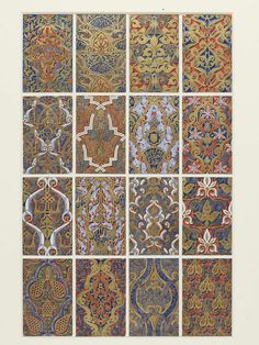 Original drawing for 'The Grammar of Ornament' | Jones, Owen | V&A Search the Collections