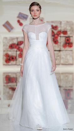 jesus peiro bridal 2017 cap sleeves sweetheart illusion jewel neck aline wedding dress (07) mv