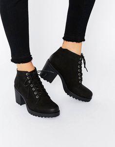 Image 1 of Vagabond Grace Black Nubuck Lace Up Ankle Boots
