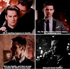 Elijah and Klaus may fight, but Elijah cares about Klaus happiness... in this case: Camille 3x07