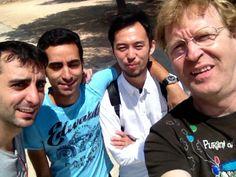 Evarist, Kamal, Toshi y yo