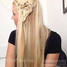WATCH ME  ☺️☺️ simple heart braid tutorial #peinadosvideos #pressplay #instavideo #hairvidz #hairvideo #instavideo #tutorial #howto #hairtutorial #hairandmakeupdiary #braidideas #braidposts #braids #heart #hotd #hair #ighair #instahair #blonde #girly #dutchbraid #dailybeautyvideos #hudabeauty #vegas_nay