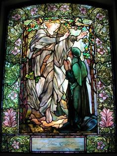 Description: Boston, Massachusetts (MA): Arlington Street Church: The Annunciation (Tiffany stained glass memorial window, designed c1898, installed 1900)