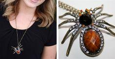 Dazzling Rhinestone Spider Necklace | Jane