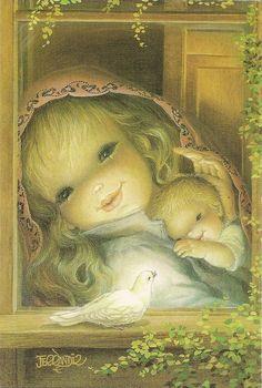 El niño, la virgen y la paloma