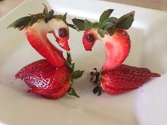 Fruit Decorations, Food Decoration, Fruit Creations, Strawberry Roses, Valentine Cake, Chocolate Art, Fruit Art, Creative Food, Food Design