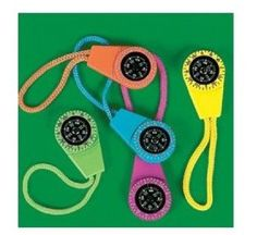 Amazon.com: Neon Compass On Cord (1 dozen) - prizes