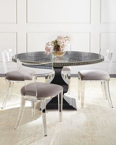 Acrylic Kitchen Table Vintage lucite furniture lucite glass table four lucite chairs bernhardt vivian inlay dining table nessy acrylic dining chair workwithnaturefo