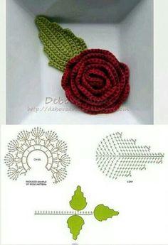 16 Ideas For Crochet Jewelry Tutorial Flower Brooch Crochet Puff Flower, Crochet Flower Tutorial, Crochet Diy, Crochet Leaves, Crochet Flower Patterns, Irish Crochet, Crochet Flowers, Crochet Ideas, Thread Crochet
