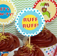 Puppy Party Birthday Set  by PixieBearParty on Etsy
