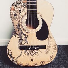 Freehand doodling on my guitar... Unfinished work