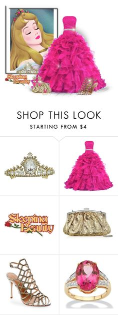"""""""Aurora: Sleeping Beauty"""" by majezy ❤ liked on Polyvore featuring Julia Cocco', Schutz, Palm Beach Jewelry and Ciner"""