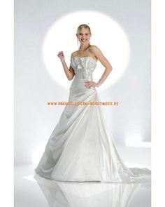 Sexy Maßgeschneiderte Brautkleider aus Satin mit Schleppe mit Schleife