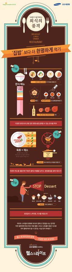 """외식의 품격 """"집밥보다 더 현명하게 먹기!""""에 관한 인포그래픽"""
