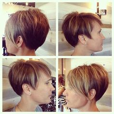 Short Shaved Hairstyles, Cute Short Haircuts, Pixie Hairstyles, Pretty Hairstyles, Woman Hairstyles, Pixie Bangs, Pixie Cut, Short Hair Cuts, Short Hair Styles