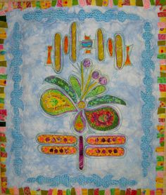 Yay It's Spring! by Terry White Quilting Projects, Sewing Projects, Thread Painting, Thread Work, Applique Quilts, Patches, Embroidery, Stitch, Spring