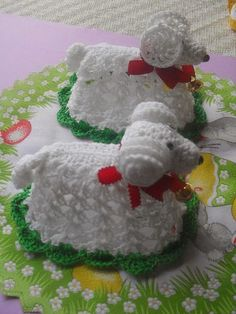 WIELKANOC SZYDEŁKOWA 2 - Elżbieta Karmańska - Picasa Web Albums Annie's Crochet, Double Crochet, Crochet Stitches, Farm Crafts, Crafts For Kids, Easter Crochet Patterns, Stitch Patterns, Christmas Ornaments, Knitting