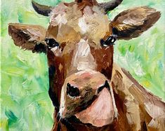 Original Oil Colour Painting inspired by Ireland by IrishFarmArt Funny Pigs, Farm Art, Cow Art, Portraits From Photos, Vintage Art Prints, Portrait Illustration, Paint Colors, Ireland, Original Art
