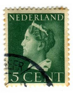 Netherlands Postage Stamp Queen Wilhelmina 5 cent