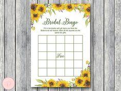 Sunflower Summer Bridal Shower Bingo Printable Bridal Bingo  #babyshowerideas4u #birthdayparty  #babyshowerdecorations  #bridalshower  #bridalshowerideas #babyshowergames #bridalshowergame  #bridalshowerfavors  #bridalshowercakes  #babyshowerfavors  #babyshowercakes
