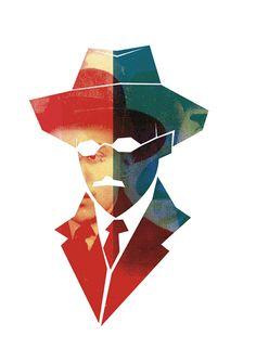 Illustration   Fernando Pessoa by Maria Manuela Morais, via Behance