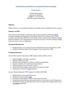 resume objective examples for accounting