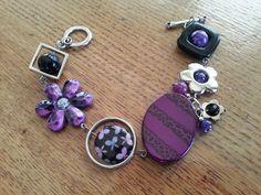 """""""Bracelet asymétrique violet"""", """"Bracelet moderne"""", """"Bijou unique"""" : Bracelet par bijouxlibellule"""