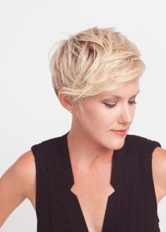 Messy Short Hair Style for Side Long Bangs