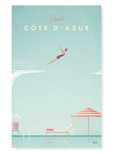 Cote D' Azur by Henry Rivers (Canvas) from Runway to Room: Fashion-Inspired Design on Gilt
