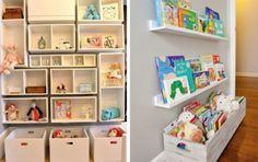 modelos de estantes de brinquedos para quarto