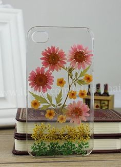 Pressed Flower iphone 6 case Real Flower