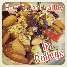 Recipes, grocery lists and tips on the basics of healthy eating at college. Love. Love.