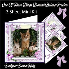One of These Things Doesn t Belong Mini Kit on Craftsuprint designed by Donna Kelly - This 3 sheet mini kit is approx 7x7